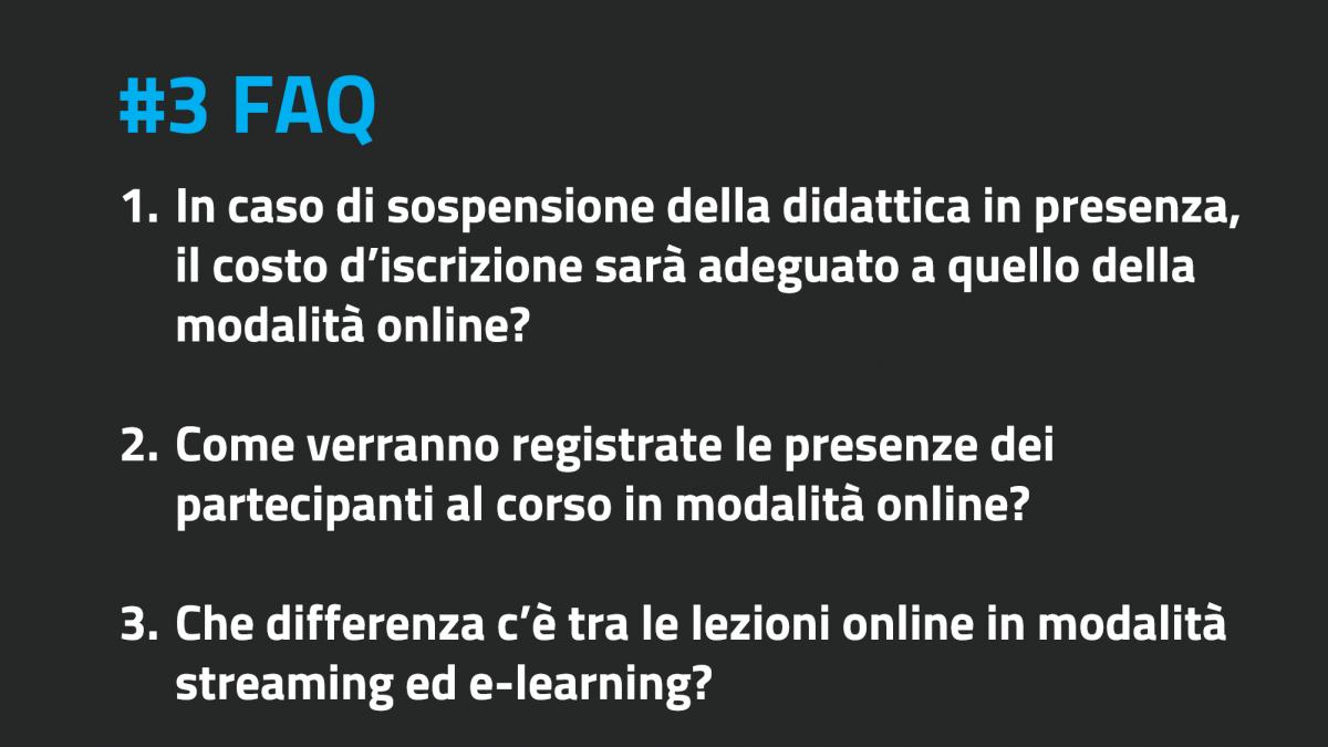 FAQ II edizione #3 – le domande e le risposte più frequenti della settimana