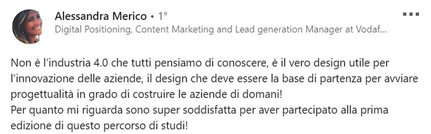 Dicono di noi #1 - Alessandra Merico