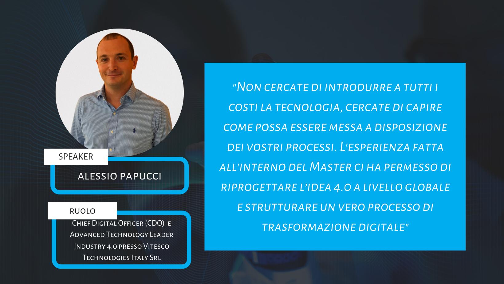Use Case #3 – Vitesco Technologies Italy Smart Factory: il progetto di Alessio Papucci