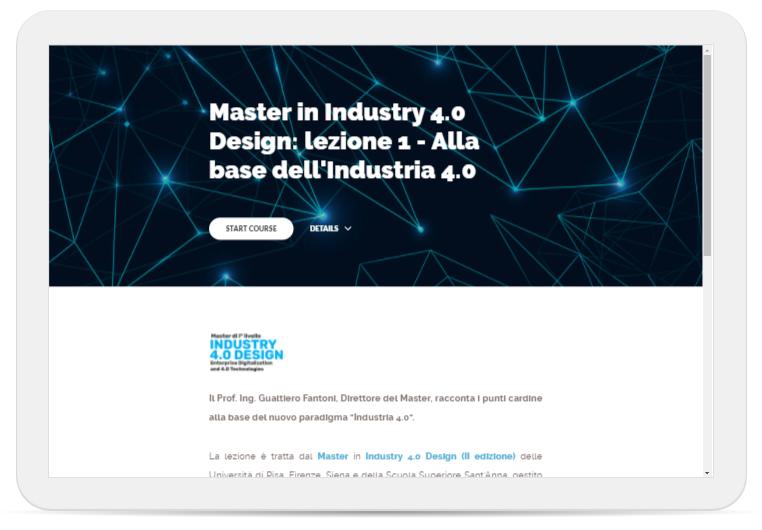 accedi subito alla prima lezione del master in industry 4.0 design!